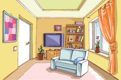 Light Living Room Stock Image
