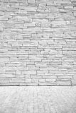 Light loft wall of stone blocks with a floor surface Stock Image