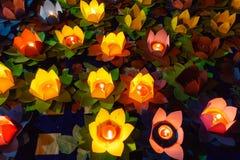 Light lotus lanterns Royalty Free Stock Image