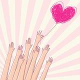 Light love. Cartoon conceptual illustration Stock Image