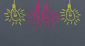 Light  of love : Easy brush illustration paint on dark gray bac Stock Image