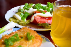 A light lunch before exploring.  Royalty Free Stock Images