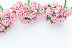 Light magenta roses in wood  background Royalty Free Stock Image