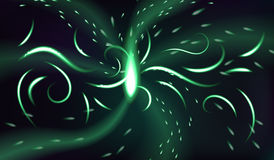Light of magic portal. Abstract dark glowing background. With swirls Stock Images