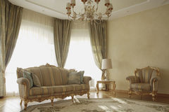 Light magnificent room. With the big window Royalty Free Stock Photography