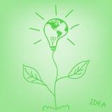 Light map of ECO World leaves idea Stock Photo