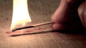 Light matches burning stock footage