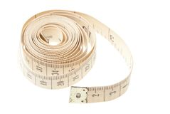 Light measuring tape isolated Royalty Free Stock Photo