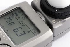 Light Meter. A close up view of a Flash/Light meter stock photography