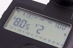 Light Meter. A light meter screen Royalty Free Stock Image