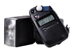 Light meter and Flash Stock Images