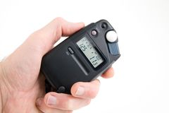 Light meter on white Royalty Free Stock Images