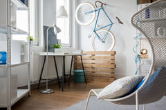 Light minimalist studio flat Royalty Free Stock Image