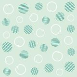 Light mint seamless polka dots pattern Royalty Free Stock Images