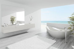 Light modern bathroom interior Stock Photography