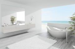 Light modern bathroom interior. A 3d rendering of light modern bathroom interior Stock Photography