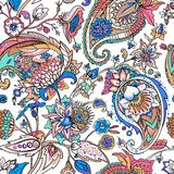 Light modern seamless paisley pattern. Based on the traditions of oriental patterns. Paisley. A seamless pattern based on the traditional oriental paisley stock illustration