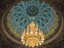 Light. Mosque Sultan Qaboos, Muscat, Oman Stock Images