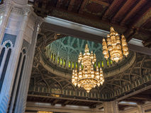 Light. Mosque Sultan Qaboos, Muscat, Oman Royalty Free Stock Images