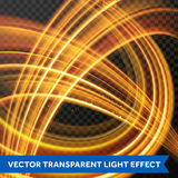 Light multi line tracing effect. Vector fire light flare trace. Light multi line tracing effect. Vector fire flare trace of magic sparkle swirl trail on Royalty Free Stock Photo