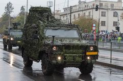 Light multirole vehicle, infantry mobility vehicle on military parade. In Prague, Czech Republic stock images