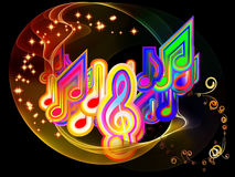 Light of Music Stock Image
