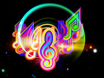 Light of Music Royalty Free Stock Photography