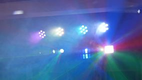 Light music in the dance hall. The light music in the dance hall stock video