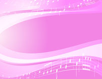 Light music wavy background - vector Royalty Free Stock Photos