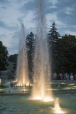 Light and musical fountain in Pyatigorsk, Russia Royalty Free Stock Image