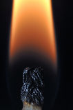 Light my fire. Close-up of a candle wick flame Stock Photography