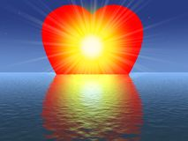 The light of my heart. My big love shining so cool Stock Photography