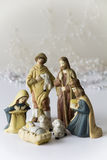 Light Nativity Scene Royalty Free Stock Photography