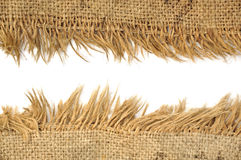Light natural linen texture Stock Images