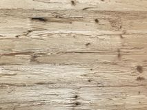Light natural wood plank wall background, rustic or rural background. With free text space stock photo