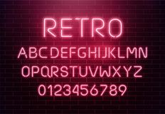 Free Light Neon Font Letter Set. Bar Sign Vector Type. Glowing Casino And Cinema Red Text Alphabet On Brick Wall Background Stock Photo - 101459840