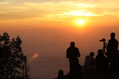 Light of a New Day. Phu Kradueng in Thailand Light of a New Day royalty free stock photo