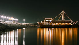 Light night boat Royalty Free Stock Photography