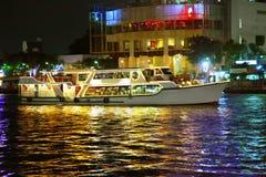 Light night boat Stock Image