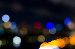 Light and night bokeh Royalty Free Stock Image