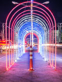 Light the Night. Central Avenue in Thailand Stock Images