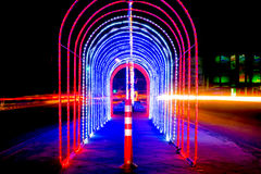 Light the Night. Central Avenue in Thailand Royalty Free Stock Image