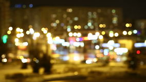 Light in the night city. Blurred light in the night city timelaps stock video footage