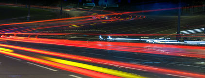 Light of a night city Stock Photo