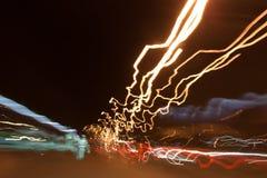 Light of Night Drive Stock Image