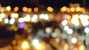 Light the Night Market City Bokeh background. Beautiful Royalty Free Stock Images