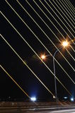 Rama8 at night. Light at night rama8 on road Royalty Free Stock Photos