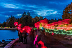 Light the night walk Vancouver, British Columbia, Canada Stock Images