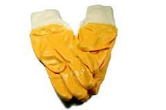 Light nitril gloves. Safety Gloves, light nitril gloves Stock Photo