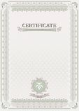 Light official certificate. Document Royalty Free Stock Photos